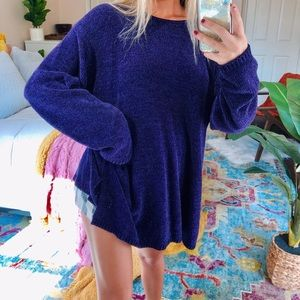 Sweaters - eggplant chenille oversized knit